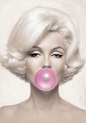 X-Large-Marilyn-Monroe-Pink-Bubblegum-Pop-Art-Poster-Print-Wall-Art-A4-A3-A2-A1