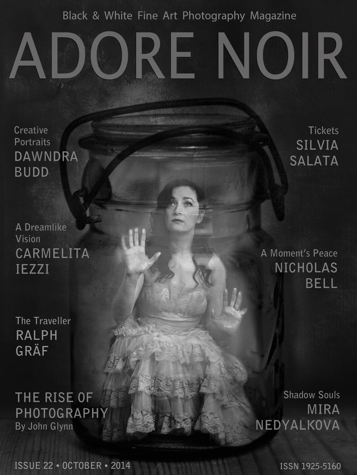 Adore noir black white photography magazine