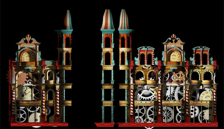 Voyage by Novak (UK)  Inspired by Austins' claim to be the world's oldest department store, Novak takes us on a whistlestop audio visual journey through time. Combining modern projection techniques and visuals, the viewer will be taken on a light-hearted, amusing and bizarre journey, custom built to fit the building's facade. Artist's Impression.