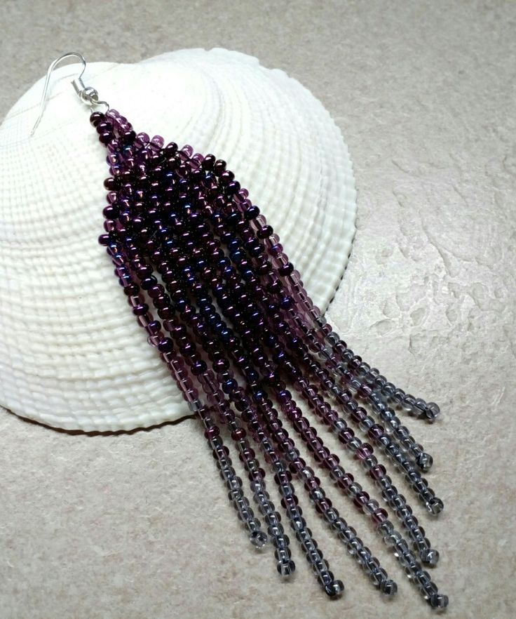 Czech seed bead earrings