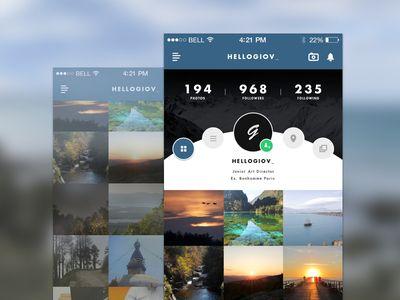 — instagram app redesign