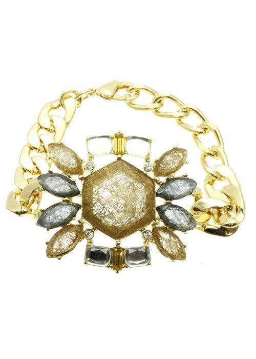 Statement Link Bracelet (Brown) – EvaMaria Boutique