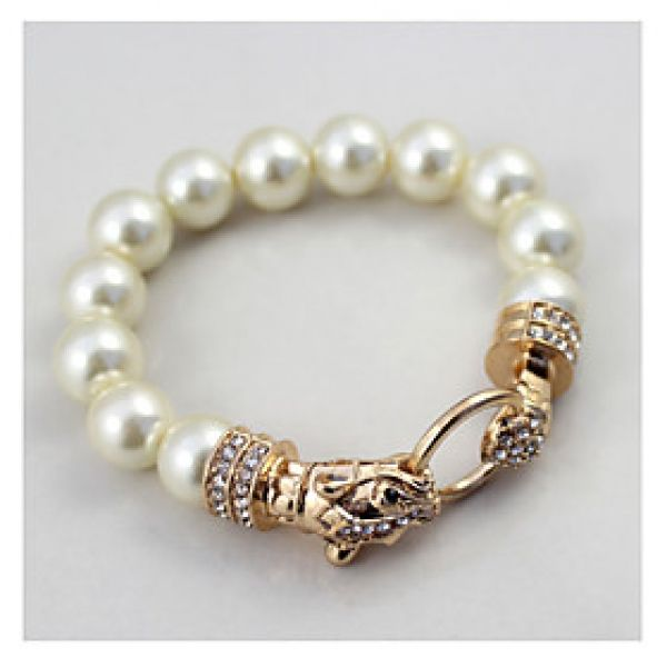 The Texture Of The Golden Leopard Pearl Stretch Bracelet(1 Piece)