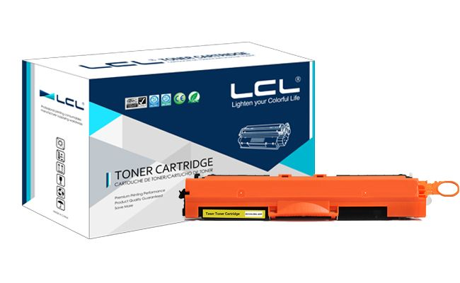LCL CE312A 126A 312 A CE312 312A (1-pack)Yellow Toner Cartridge Compatible for HP Laserjet Pro CP1025/CP1025nw/CP1026nw/CP1027nw