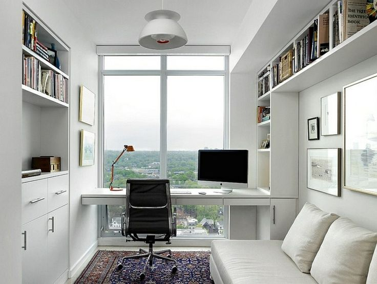 bureau scandinave petit espace en style moderne