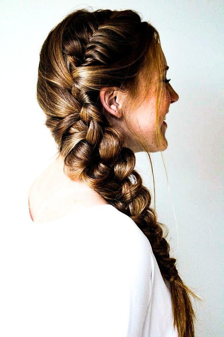 Side twist + braid.