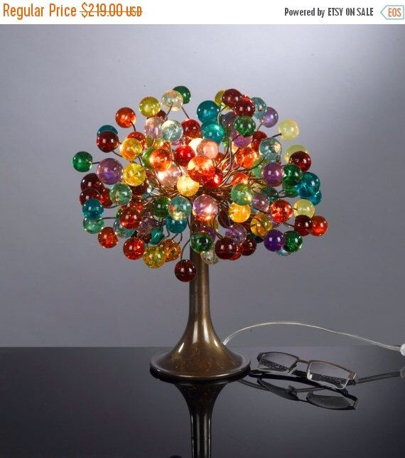 Multicolored bubble lamp with metal wires, small table lamp, colorful bubbles lighter for desk or bedside table. by yehudalight on Etsy https://www.etsy.com/listing/126613457/multicolored-bubble-lamp-with-metal