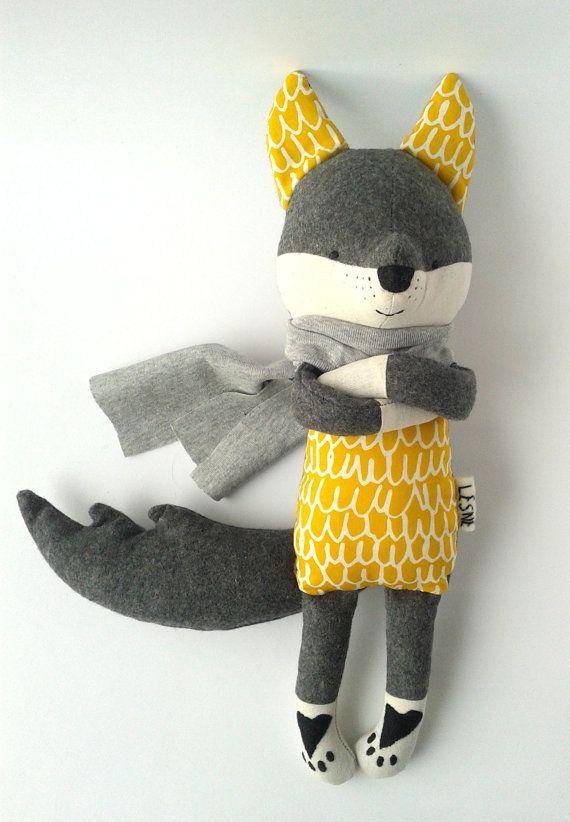 ROLLO le loup. fabriqué sur commande. jouets Eco. Loup par LESNE