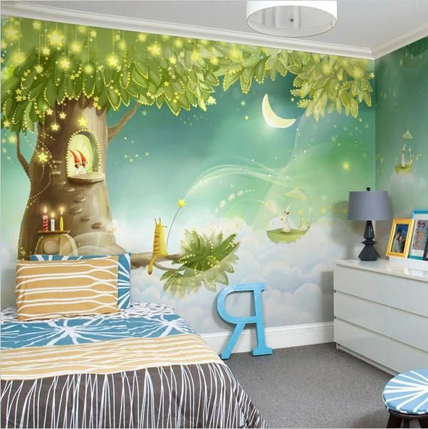 3d Magical Dream Cartoon Wallpaper Mural For Kids Room Kids