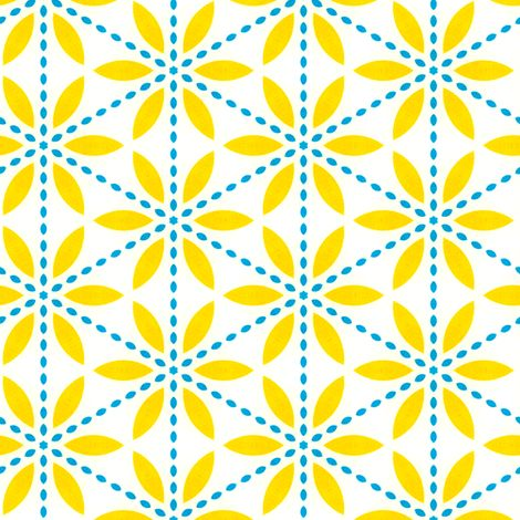 Retro Yellow Flower fabric by stoflab