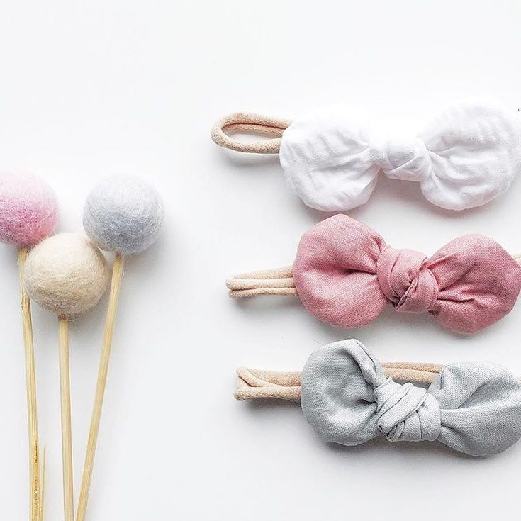 PERFECT MATCH How's this for a perfectly pretty match? Gorgeous bows from @verdebaby sitting oh so pretty with some of our Felt Ball Flowers