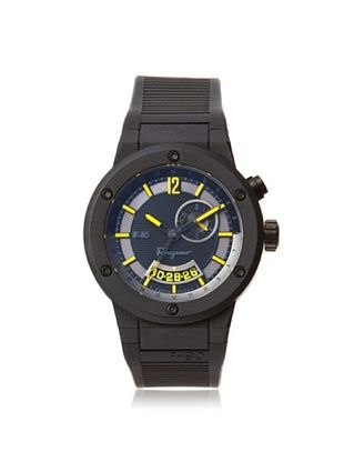 -99,800% OFF Salvatore Ferragamo Men's F55LGQ6875 S113 F-80 Black Carbon Fiber Soft Rubber Watch