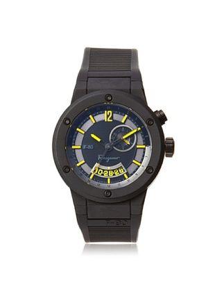 -99,800% OFF Salvatore Ferragamo Men's F55LGQ6875 S113 F-80 Black Carbon Fiber Soft Rubber Watch
