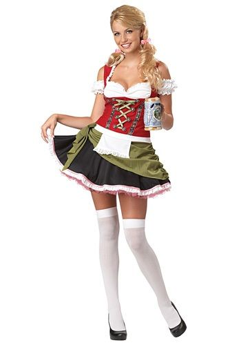 This sexy Womens Bavarian Bar Maid Costume is perfect for Oktoberfest! Check out our men's lederhosen costumes for your date!