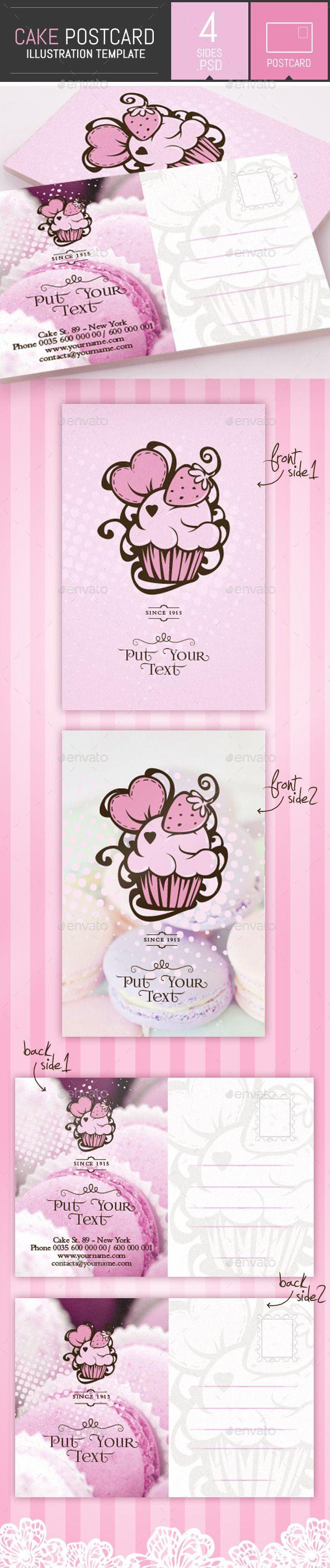 Cake and Cupcake Business Postcard Template