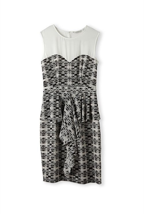 Print Waterfall Dress