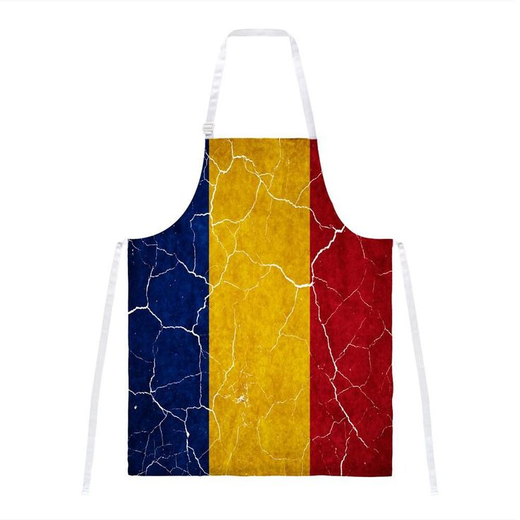 Distressed Romanian Flag All Over Apron