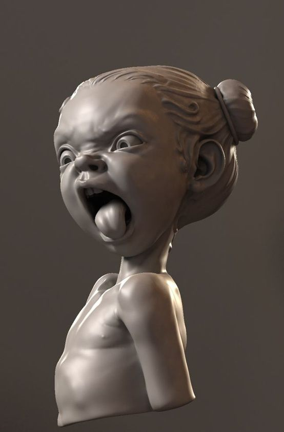 Fun sculpture by mikkamakka using Zbrush...this is how Minerva looks when you aren't watching.