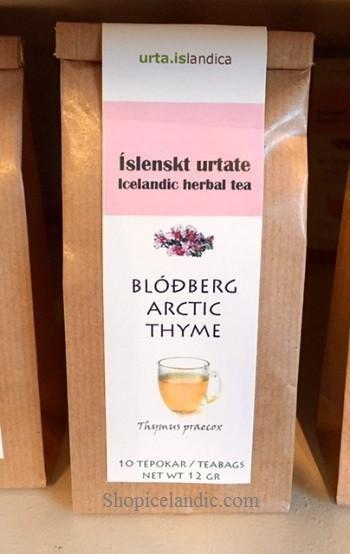 Arctic thyme - Blodberg Herbal Tea  100% Thymus praecox  10 teabags = net wt 12gr