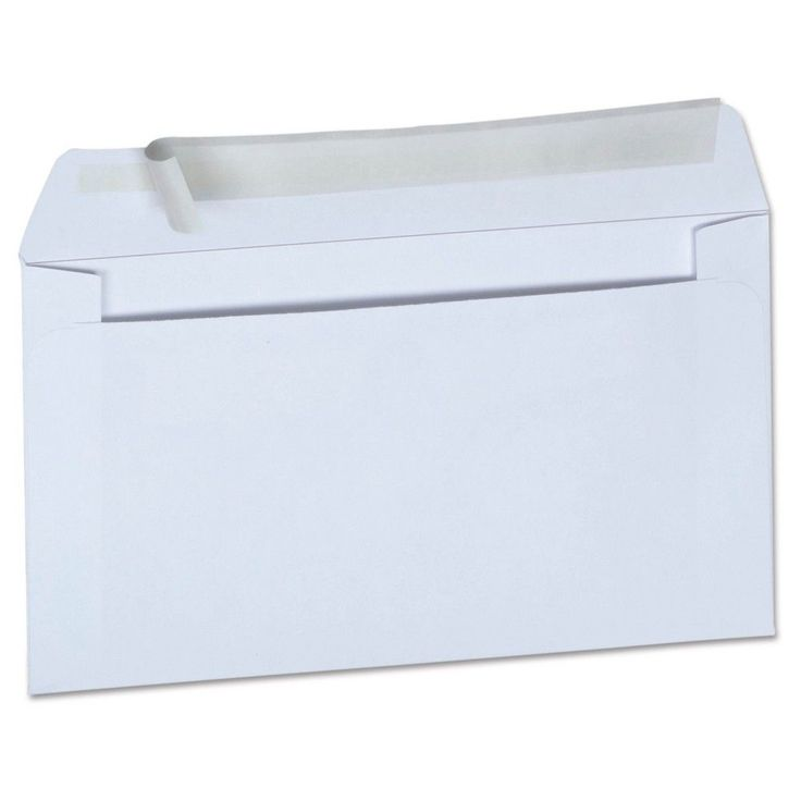 Universal Peel Seal Strip Business Envelope #6 3/4 3 5/8 x 6 1/2 White 100ct