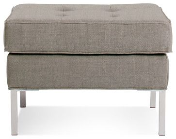 Blu Dot Paramount Ottoman, Oatmeal - modern - Ottomans And Cubes - Blu Dot