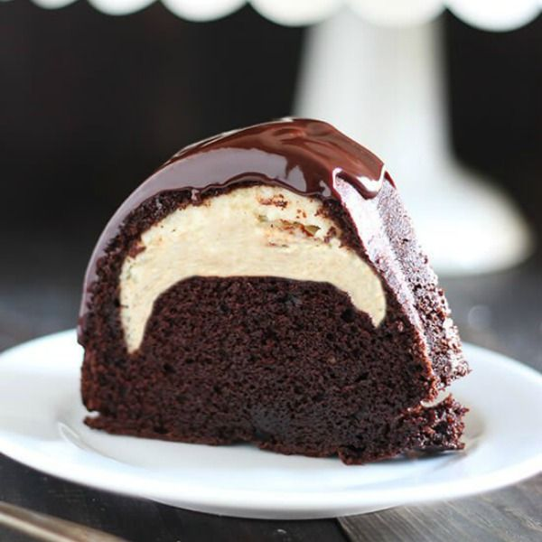 Who could beat this Cheesecake Filled Chocolate Bundt Cake with its rich yet tender chocolate cake, surprise cheesecake filling, and thick fudgy glaze? YUM.