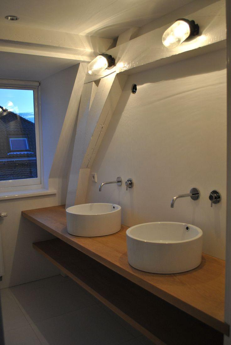 Badkamer Eiken bladen Oak blades bathroom
