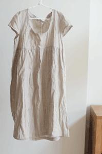 linen dress - i love the texture