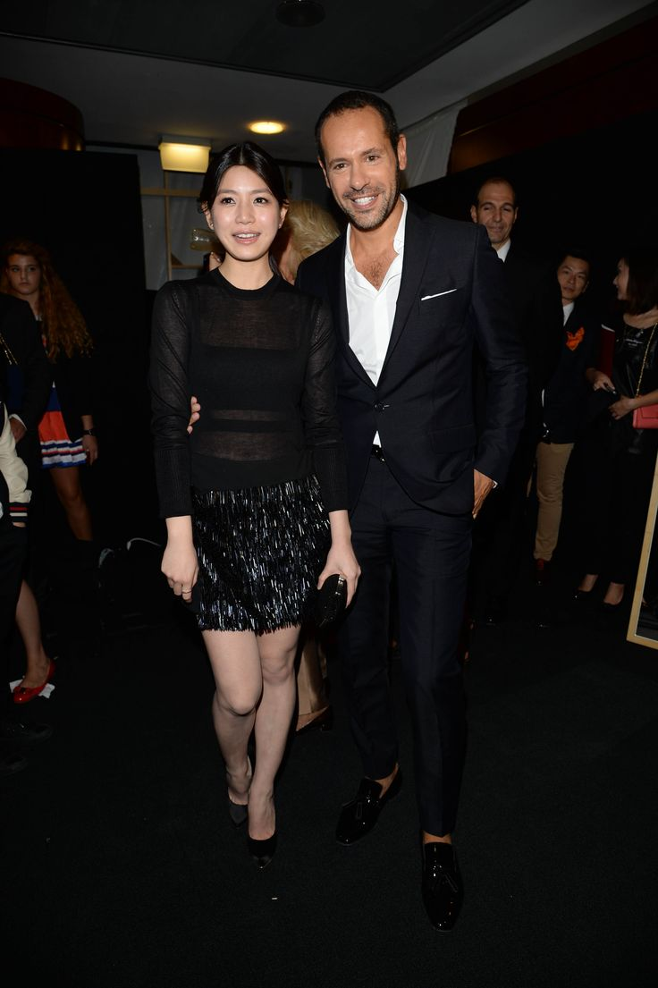 Living it!  Michelle Chen and Massimiliano Giornetti - SS14 Women's Fashion Show
