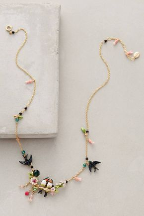 Lovebird Wreath Necklace by Les Nereides #anthrofave #anthropologie