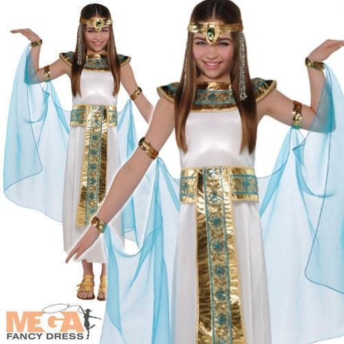 Cleopatra Costume Girls Egyptian Queen Book Week Kids Movie Fancy Dress Outfit