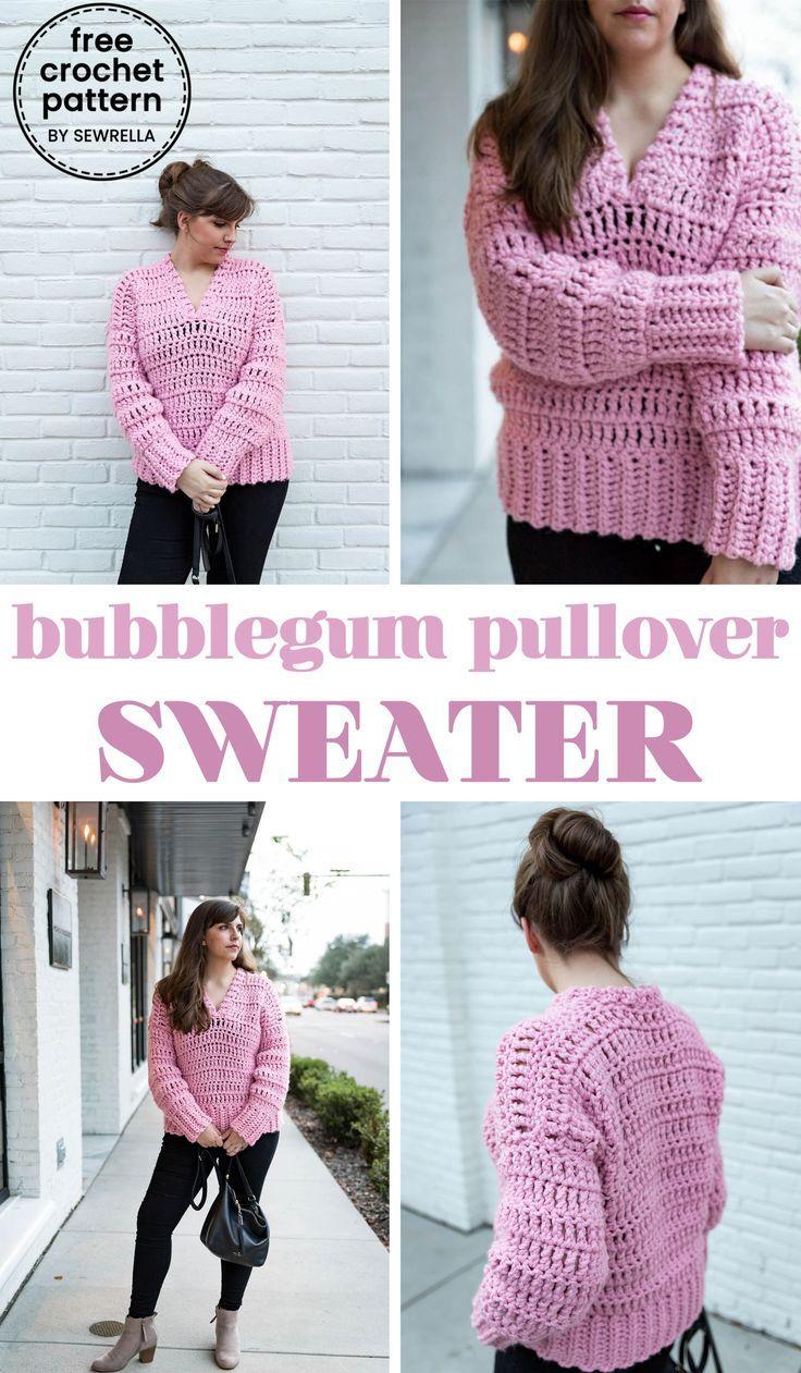 Crochet Bubblegum Pullover Sweater Crochet Projects Pinterest