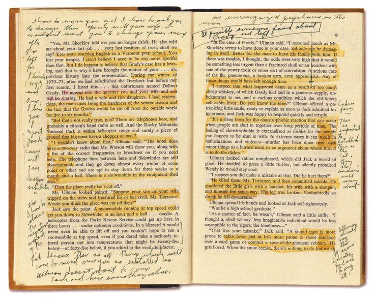 The Overlook Hotel — Stanley Kubrick's personal copy of Stephen King's...