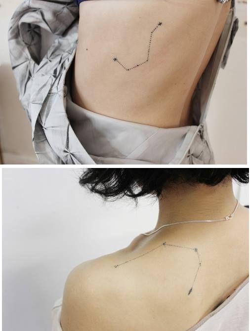 cute little constellation tattoo, delicate, feminine, star by Miso (Stanislava Pinchuk) http://m-i-s-o.com/news/