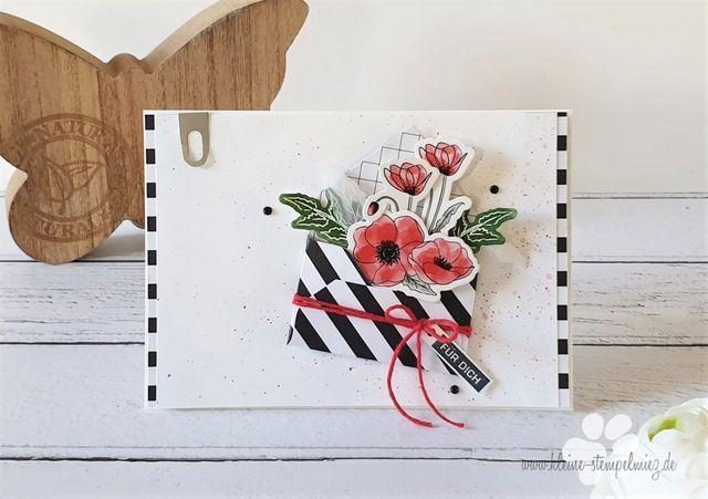 Geburtstagskarte Mit Mohnblumen Kleine Stempelmiez Basteln Aus Liebe In 2020 Card Craft Poppy Cards Flower Cards