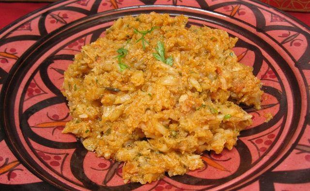 Cauliflower Zaalouk - Zesty Pureed Cauliflower Salad