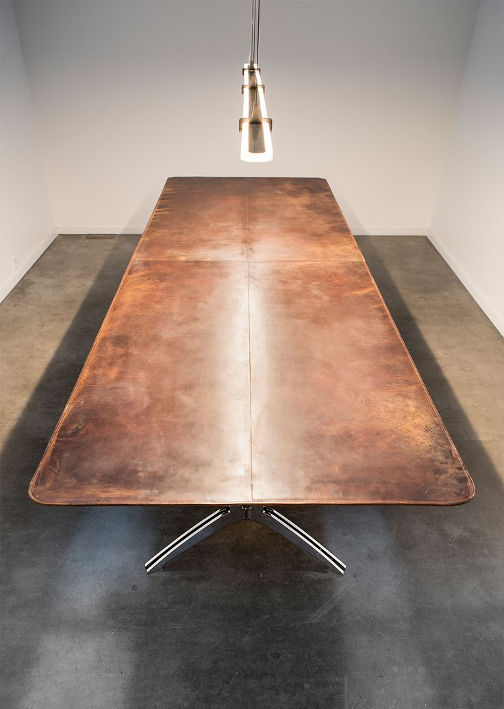 Leather table office space inspiration #leatertable - available online
