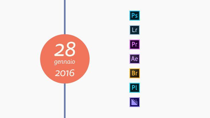 Adobe rilascia gli aggiornamenti di gennaio per la CC 2015 http://www.sapereweb.it/adobe-rilascia-gli-aggiornamenti-di-gennaio-per-la-cc-2015/        Adobe rilascia gli aggiornamenti di gennaio 2016 per Photoshop CC 2015, Lightroom CC 2015, Premiere Pro CC 2015, After Effects CC 2015, Bridge CC, Prelude CC 2015, Media Encoder CC 2015.  Photoshop CC (2015) Aggiornamento di Photoshop Camera Raw 9.4(CC): Eseguite l'aggiornamento...