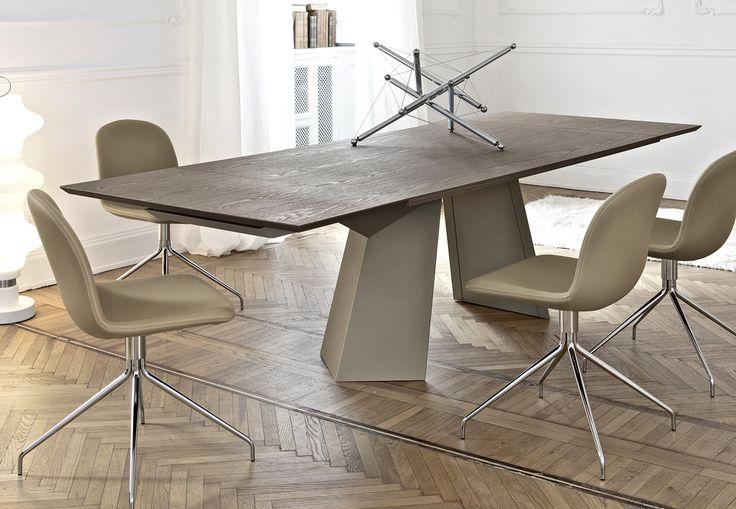 Bontempi Casa Extendable Glass Dining Table