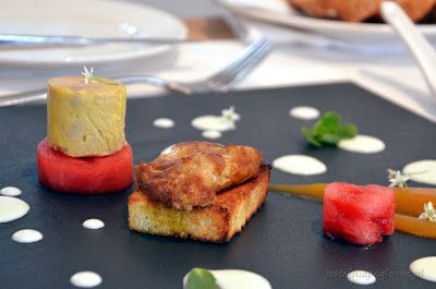 Hot/ cold foie-gras (Signature Restaurant, Warsaw, Poland).