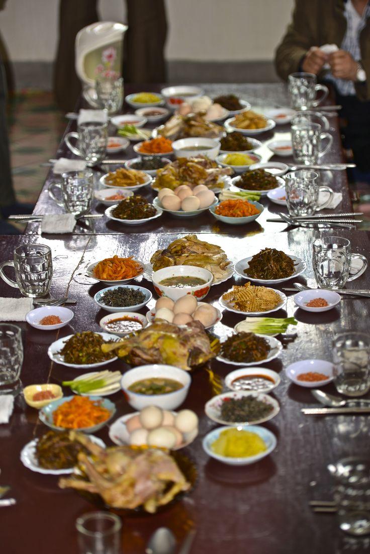 visitors meal in DPRK