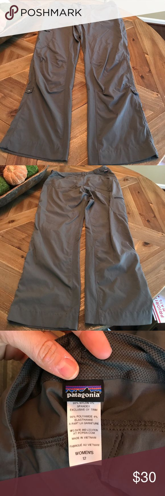 Patagonia hiking pants! Excellent used condition Patagonia hiking pants. Great roll up option. Appear to have been hemmed so included inseam measurement. Patagonia Pants Track Pants & Joggers