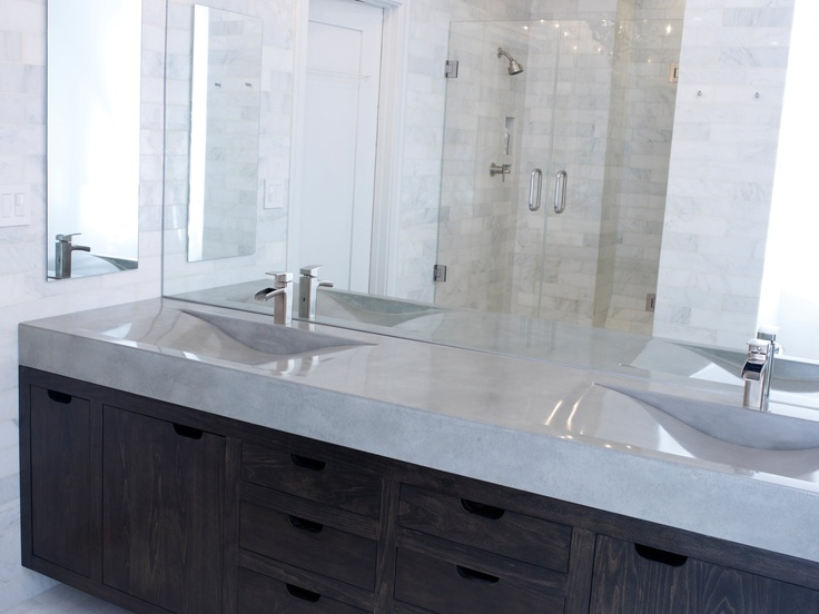 Concrete vanity sink vanity sink vanities and concrete sink for Eurotrend bathrooms