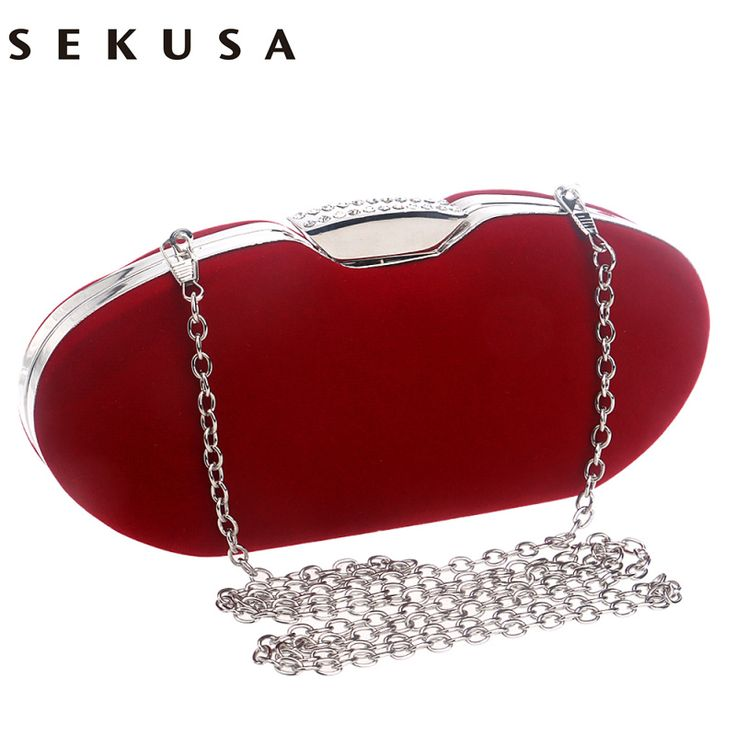 Crystal evening bags clutch women evening bag diamonds velvet black red handbags chain shoulder bag for bridal/bridesmaid bag