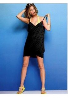 Candy  Deep V Sunscreen Chiffon Beachwear Dress