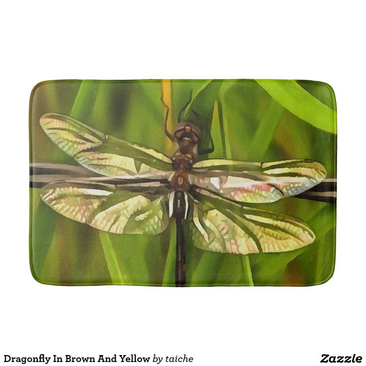 Dragonfly In Brown And Yellow Bath Mat Dragonfly In Brown And Yellow Bath Mat http://www.zazzle.com/dragonfly_in_brown_and_yellow_bath_mat-256799235606459530?CMPN=shareicon&lang=en&social=true&view=113597293120780544&rf=238616195033801520