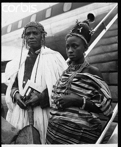 Africa   Oba Akenzua II, King of Benin (1933-1978)