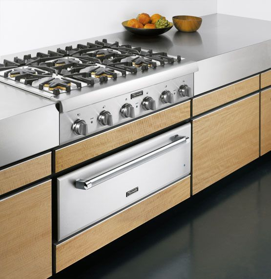 thermador kitchen gallery pro rangetop cooktop with warming drawer under