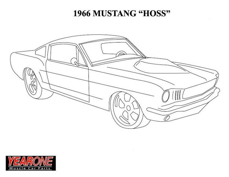 Colorinford Mustang Free Coloringg Pages
