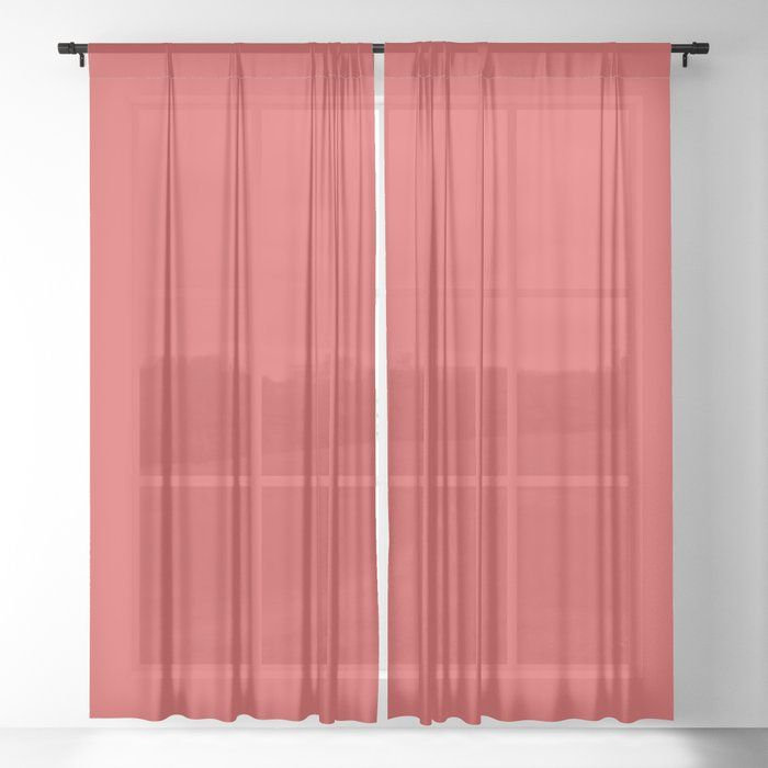Dunn Edwards 2019 Curated Colors Red Power Bright Bold Red Dea108 Solid Color Sheer Curtain By Sim In 2020 Sheer Curtains Sheer Color Sheer Curtain